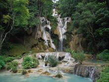 Kuang Phapheng Falls In Don Khong, Laos, The Largest Waterfall In Southeast Asia