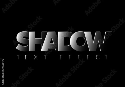 Dark Shadow Editable Text Effect