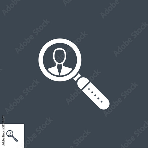 Fotografie, Tablou Searching Employee related vector glyph icon