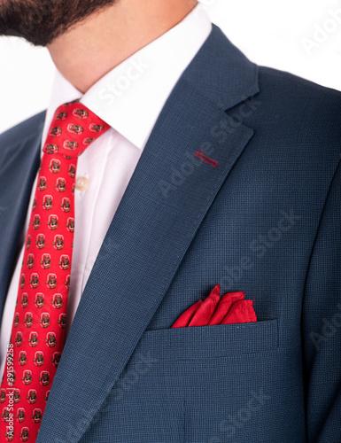 Traje Formal corbata Canvas Print
