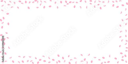 Sakura petals falling down. Romantic pink silky sm © Begin Again