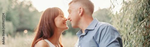 Obraz na plátně Couple man woman in love