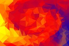 Red, Yellow, Orange, Blue, Polygonal Mosaic Background
