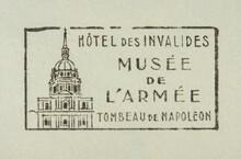 Post Letter Mail Brief Stempel Cancel Frankiert Gestempelt Vintage Retro Alt Old Frankreich Französisch French France Slogan Werbung Museum Napoleon Armee Army Musée