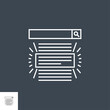 Search Result Related Vector Thin Line Icon. Isolated on Black Background. Editable Stroke. Vector Illustration.