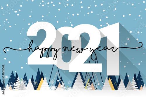 Obraz 2021 - happy new year 2021 - fototapety do salonu