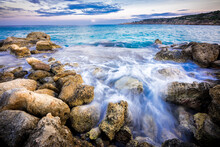 Water Splasing On The Stones W...