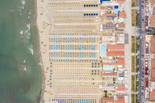 Aerial View Of Huge Beach With...
