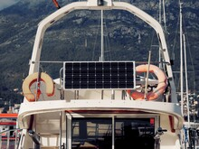 Solar Panels Installed On The Yacht