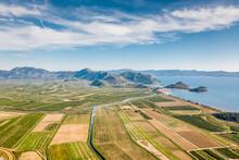 Aerial View Of Neretva River E...