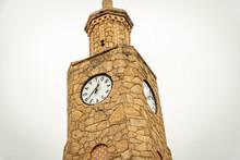 A Clock Tower In Daytona Beach, Florida