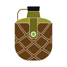 Isolated Bottle Water Gun War Icon- Vector