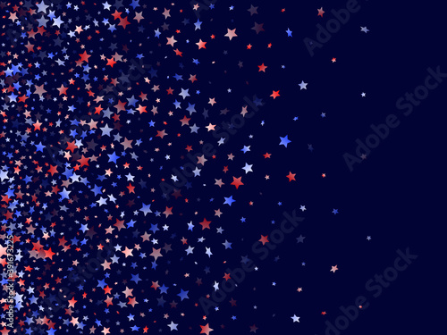 Photo Flying red blue white star sparkles vector american patriotic background