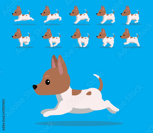 Animal Animation Sequence Dog Tenterfield Terrier Cartoon Vector