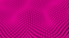 Abstract Pink Background With Cylinders. Ceramic Round Tiles. Geometry Pattern. Random Cells. Polygonal Glossy Surface. Futuristic Abstraction. 3d Rendering Illustration