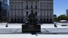 Juana Azurduy Estatua Y Centro Cultural Kirchner Drone Aereo