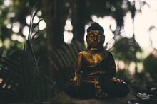 Closeup Of A Small Buddha Stat...