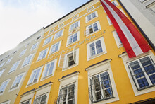 Mozarts Geburtshaus Is The Mozart's Birthplace Is The Most Famous To Visit In Salzburg, Austria.