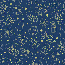 Christmas Background Blue, Wit...