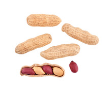 Top View Of Peanuts Isolated O...
