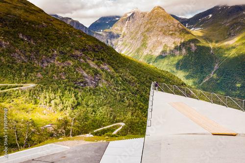 Obraz na plátne Utsikten viewpoint in Norway