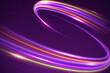 purple neon light futuristic modern grunge line electric texture glowing on purple.