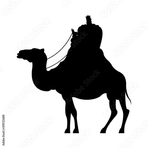 Papel de parede wise men in camel silhouette character