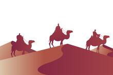 Wise Men Group In Camels Mange...