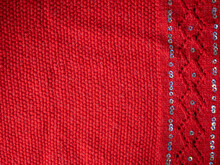 Knitted Red Knitting Texture For Holiday Cards
