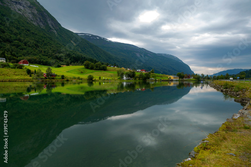 Fototapety, obrazy: Geirangerfjord in Northern Norway is a geographical region of Norway, consisting of the two northernmost counties Nordland and Troms og Finnmark