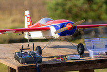 RC Plane On A Grassy Runway