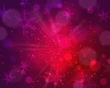 Red Dust Vector Firework Explo...