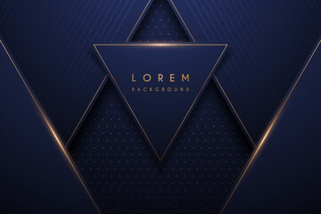 Abstract gold and blue luxury background
