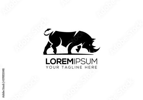 Cuadros en Lienzo animal,animals, bricks, building, cement, civil engineering,rhinoceros, safari,
