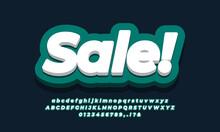 Sale Text  3d Cyan Design