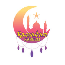 Greeting Card Ramadan Kareem Best New Moon Theme