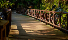 Wooden Pier That Crosses The C...