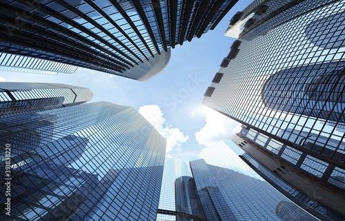 Obrazy powiększające wnętrze   skyscrapers