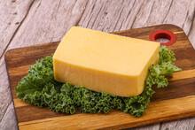 Tasty Yelloow Tilsiter Cheese Brick