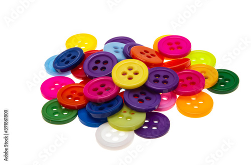 colored buttons isolated Billede på lærred