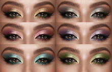 Collection Of Eyes Shadows Col...