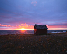 Little Hut During Sunset At Th...