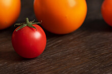 Red Cherry Tomato On Backgroun...