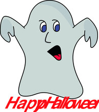 A Cute Little Ghost Doing Boo To Scare You
