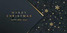 Christmas Poster On Black. Vec...