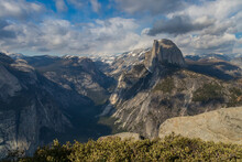 View From Glacier Point At Half Dome, Yosemite National Park, California, USA