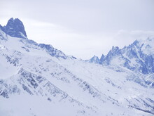 The French Alps From Le Tour, A Ski Station At Chamonix.