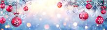 Christmas Balls Hanging Fir Br...