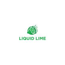 Logo Design Of Green Liquid Lime