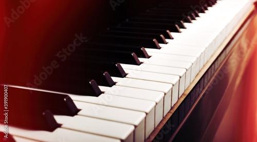 Piano. Fotobehang